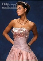pink flowery beach bridesdress / Wedding Dresses //bridesmail dress
