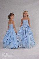 Beautiful little girl blue dress spaghetti straps
