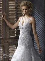 dress/cooktail/evening dress/prom/party dress/skirt/Custom size NO.492 White straps wedding