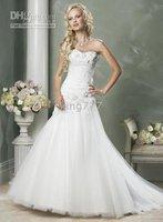 size/Custom size NO.223 Strapless mermaid wedding Dress/bridal/evening dress/plus/pregnant