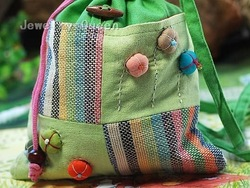 22 pcs/lot wholesale 26X20cm handmade lady girl handbag women bag cotton fabric hobo bag child kid messenger bag --5 colors(China (Mainland))