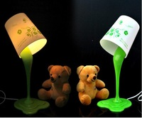 Free Shipping 2pcs/lot paint bucket lamps with different patterns, the color and pattern will send at randon