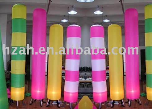 2011free shipping inflatable lighting pillar/advertising pillar/party deco/include fan,LED and transformer(China (Mainland))