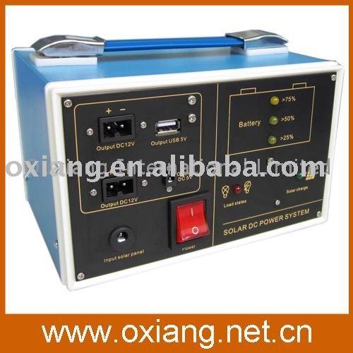 HOT! DC Output 12V/7AH Sealed Lead-acid Battery Entertaining Portable Solar Generator+Free shipping(China (Mainland))