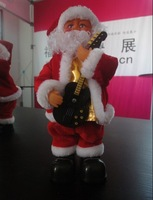120302 large electric santa claus with music in 12inch height