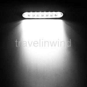 2 X Car Truck Universal Day Fog Aux 8 LED White Light