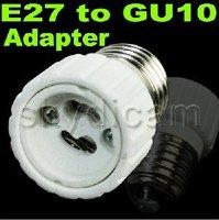NEW LED Halogen CFL GU10 to E27 Light Lamp Bulb Adapter Converter