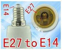 Free Shipping New PC E27 To E14 LED CFL Light Bulb Lamp Socket Adapter Converter Halogen