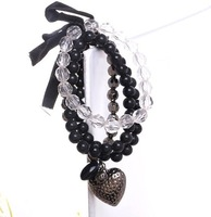 Multi-level crystal beads bracelet  /20pcs/HOT SELL