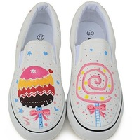 Hand painted canvas shoes(Free shipping)