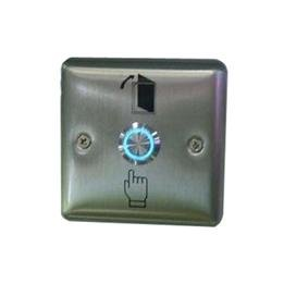 Stainless Steel Door Access Control Push Button Exit Switch with LED Light 801L