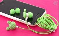 Free Shipping 20pcs/lot 3.5mm mickey in ear earphone for mp4 mp3 laptop/ colorful in-ear earphone