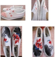 hand-painted Canvas shoes,hello kitty,lovely,Paint on demand