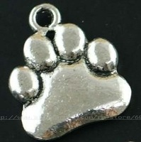 free shipping antique silver bear claw charms metal charms jewelry accessories