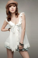 fast shipping Retail Deep V Sex Shiffon Woman Dress