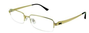 Retail and wholesale !  stylish luxury big size half-rim men's pure titanium optical frame T9819 quality Rx eyeglasses frames
