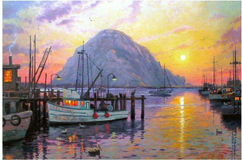 Thomas Kinkade pintura a óleo(China (Mainland))