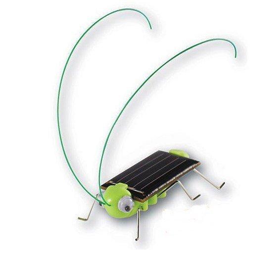 Solar Toy, Solar Grasshopper,Green gift,Solar Powered Grasshopper 50pcs/lot(China (Mainland))