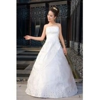 Korean version of the new lace wedding dress, size adjustment straps