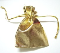 EMS Free Shipping 500Pcs Gold Color Jewelry Bag Gift Bag For DIY jewelry Gift Crafts 2.8''X2'' W38