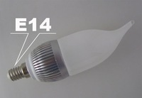 E14 LED Lamp 3W  with warm white2700-3500lm/pure white4000-4500lm/and more