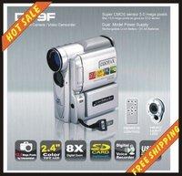 Free shipping--16MP POCKET super-thin 8X Digital Zoom DV9F DV Digital Video Camera