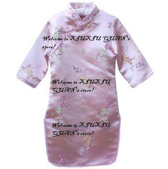 04 qipao girls' dresses chinese dress baby dresses cheongsam dress chinese traditional costume