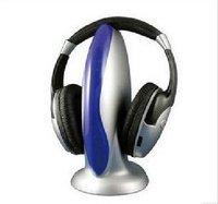 Free Shipping VHF wireless stereo headphone with FM Radio 5 in 1 / TV wireless stereo headphone, MOQ:1 piece