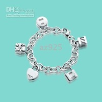forand mass order Fashion jewelry of opens and closes locks' bracelet in silver