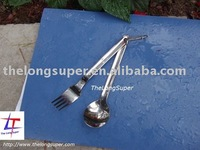 Titanium Outdoords goods-Titanium dishwares-Titanium Flatware Set  2 pcs(TLS-OD-A021)