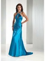 free shipping sexy stunning voile embroider bead satin/voile/chiffon/lace evening dress all size color free ED-12325