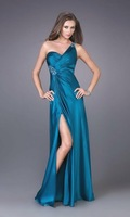 free shipping sexy stunning voile embroider bead satin/voile/chiffon/lace evening dress all size color free ED-12360