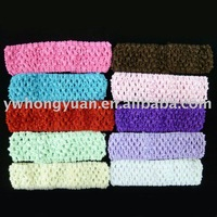 Free shipping Crochet headband baby headband for baby 1.5inch 24 hot sale colors in stock U Pick