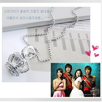 Silver plated crown necklace / long necklace /(30pcs)/HOT SELL