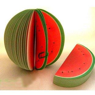 Free Shipping Novelty watermelon shape 120pcs/lot Memo Pad/ Kinds Of Fruit Shape Mini Note Paper(China (Mainland))