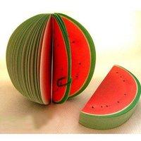 Free Shipping Novelty watermelon shape 120pcs/lot Memo Pad/ Kinds Of Fruit Shape Mini Note Paper