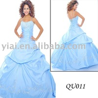 2011 stunning  bright  ball gown QU011
