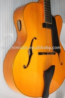 yunzhi fully handmade cutaway f hole Jazz guitar