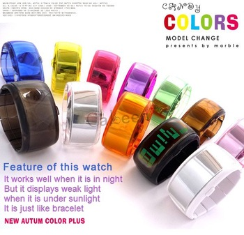 Hot sale Jelly Digital Watch Blackl 12 colors ODM Unisex + box