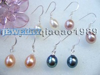 AAA wholesale drop pearl dangle earring 925 silver Hook