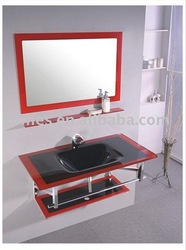 Hot sale bathroom glass wash basin set(China (Mainland))