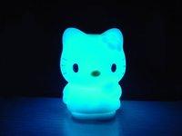 Colorful kt Cat Night LED Light / Colorful kt Cat Night Light /Seven-color change 10pcs/lot Free shipping