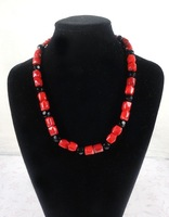 Hot Wholesale 12pcs/lots Free Shipping Fashion Jewelry Red Coral Necklace with Crystal Latest Design