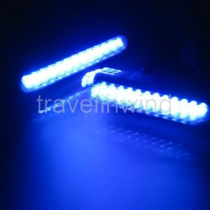 2 X Car Truck Universal Day Fog Aux 12 LED Light Blue(China (Mainland))
