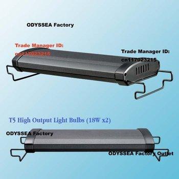 "ODYSSEA 20""(50cm) T5HO Dual Pro Aquarium Fish Tank Light/lamp(extendable to 65cm), fits tank 50cm-65cm, black/Silver available)"