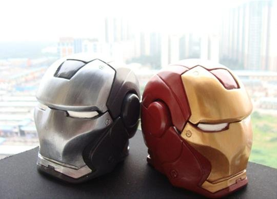 Free shipping 6pcs Iron Man Helmet Mask Ashtray Trinket Box Mark II,best toys best gifts(Hong Kong)
