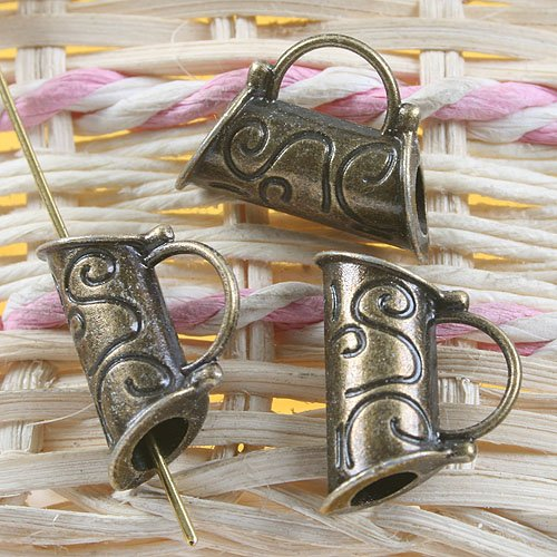 14pcs antiqued bronze handbag design pendant charm G633(China (Mainland))