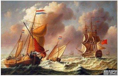 """Ondas do mar navio da marinha do Oceano Batalha Pintura Óleo 24 """" x36 """" 100% garantido Frete grátis(China (Mainland))"""