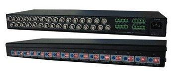 LLT-1610J,16 CH Active UTP Video Balun(Receiver),16 CH video with Terminal Block Port,2400m distance