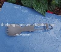 Titanium outdoors goods--Titanium Flatwares--Titanium Folding forklike spoon